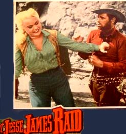 Scene from The Great Jesse James Raid with Barbara Payton