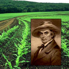 Farmer Daniel Webster on his farm / Photo by Gail Rousseau