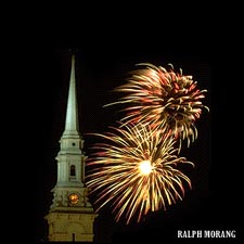 Fireworks over North Church (c) Ralph Morang