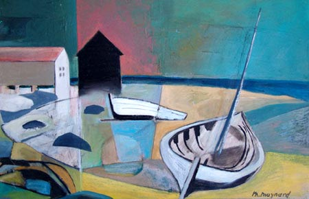 UNtitled seacoast oil painting by Max Max Maynard/ Winchester Galleries in Victoria, CA
