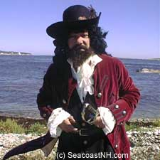 Actor playing Blackbeard at the Isles of Shoals  (c) J. Dennis Robinson / SeacoastNH.com