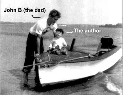 John B. Robinson, grandson of John Scott with chowder heir and author J. Dennis Robinson at Cape Code in the early 1950s / Robinson