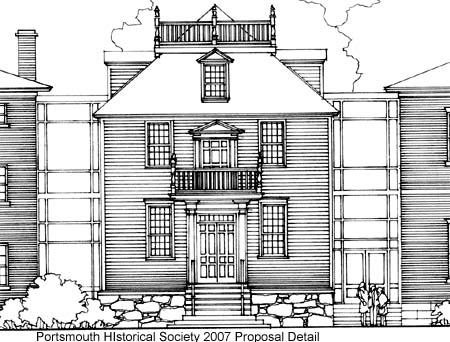 Detail of NH Old Statehouse ifacade designed into Portsmouth Cultural Cenbter / Proposal by Portsmouth Historical Society 2007 on SeacoastNh.com
