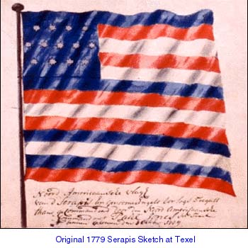 Serapis flag as it appeared in Texel in 1779