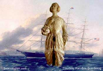 Clipper ship Nightingale and Jenny LInd Figurehead/ Karl-Eric Svardskog