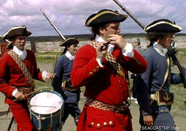Re-enacting French troops at Louisbourg/ SeacoastNH.com