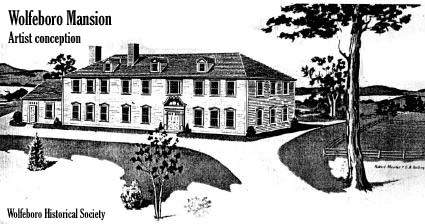 Artist concept of John Wentworth summer mansion in Wolfeboro / courtesy Wolfeboro Historical