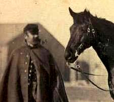 Civil war soldier and horse