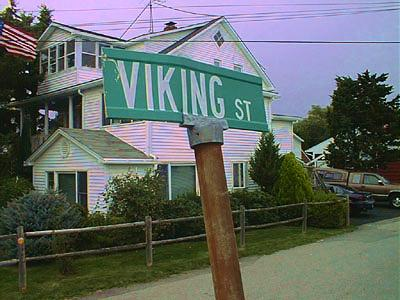 Viking Street near Thorvald Ave in beach cottage area of Hampton,NH does not prove existence of Vikings / SeacoastNH.com