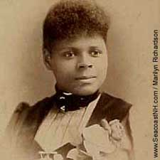 Early photo of black woman from Portsmouth, NH / SeacoastNH.com courtesy Marilyn Richardson