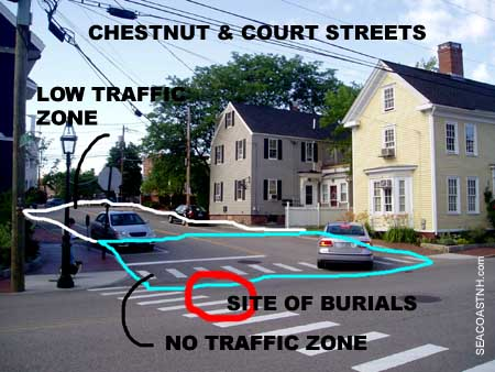 Portsmouth African Burial Site Chestnute & Court Streets. (c) SeacoastNH.com