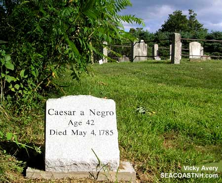 Caesar Brackett, Enslaved Negro Black History Memorial in Greenland, NH / SeacoastNH.com photo by Vivky Avery