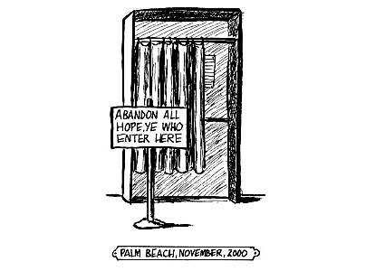 Florida Voting Booth (c) Mike Dater