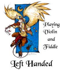 Playing Violine and Fiddle Left-Handed