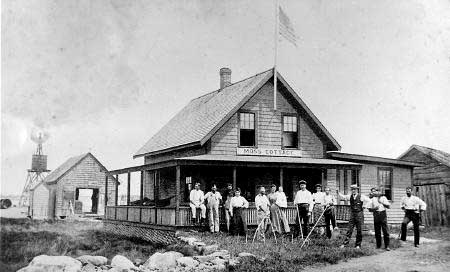 The Moss Cottage, used in the Irish moss harvesting business, is now part of Saunders at Rye Harbor Restaurant. (Rye Historical Society)
