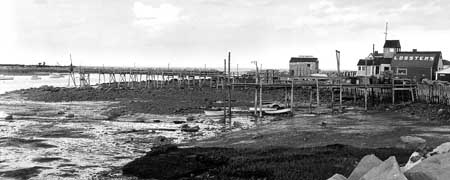 View of the south side of Rye Harbor before the 1962 dredging. (Rye Historical Society)