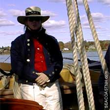 Crewman on privateering ship LYNX in Portsmouth by J. Dennis Robinson (c) SeacoastNH.com