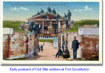 Soldoers pose on the gate of Fort Constitution in New Castle. NH / SeacoastNH.com