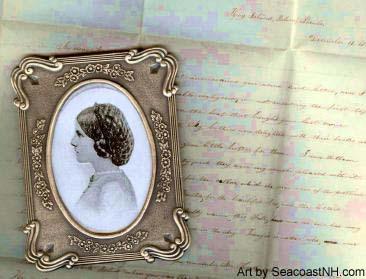 Earliest known Celia Thaxter letter with portrait / Copyright SeacoastNH.com