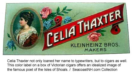 Celia Thaxter on cigar box label (c) SeacoastNH.com Collection