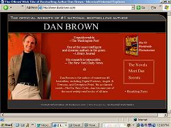 Dan Brown Web site Author of the Davinci Code