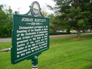 Bartlett historic marker in Kingston, NH common