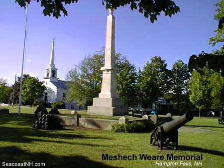 Meshecj Weare Memorial, Hampton Falls, NH / SeacoastNH.com