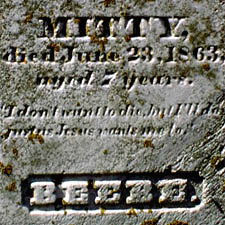 Beebe Grave Inscription