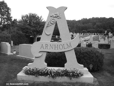 Letter A Granite tomb in Hope Cemetery/ SeacoastNH.com