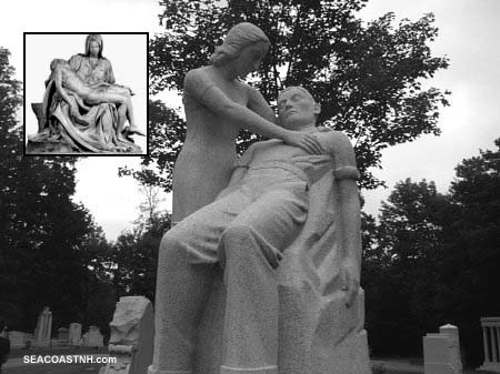 Pieta-like tombstone sculpture in Barre, Vermont / SeacoastNH.com