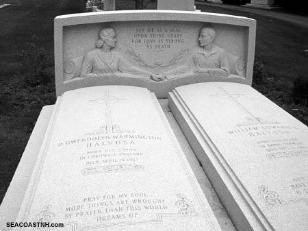Couple in bed for all eternity, final resting place in Barre , VT/ J. Dennis Robinson photo
