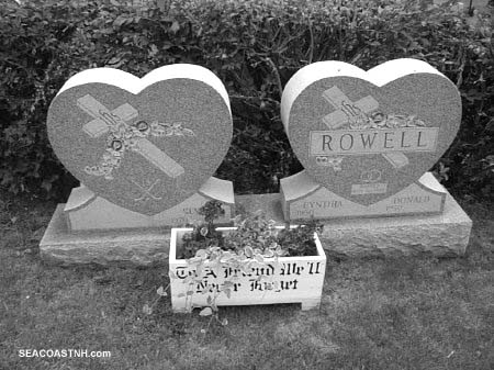 Matching heart valentine graves in Vermont/ SeacoastNH.com