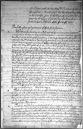 Portsmouth Treaty 1713
