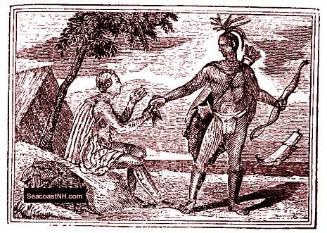 Early drawing of native Americans / SeacoastNH.com