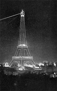 Lighted tower 1900