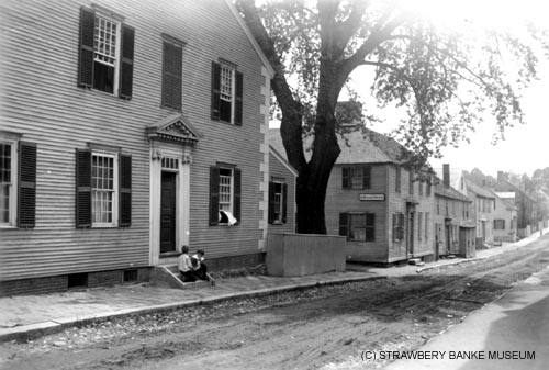 Stepehn Chase House  (1762) was temporarily used as the Chase House for Children, an orphanage in Portsmouth, NH / Strawbery Banke Museum archive