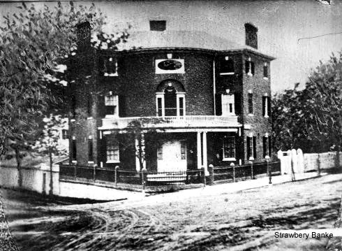 Jonathan Folsom 1813 brick house in Portsmouth, NH  (c) Strawbery Banke Museum Archive
