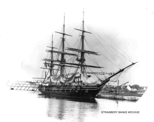 USS Portsmouth in Portsmouth Harbor after 1878 / Strawbery Banke Museum Archive
