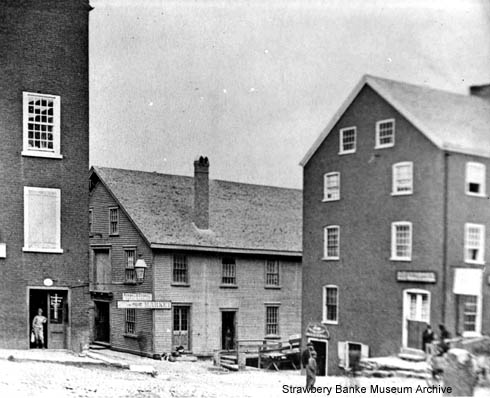 Sping Hill Market, Portsmouth, NH, corner Bow and Ceres (c) Strawbery Banke Museum Archives