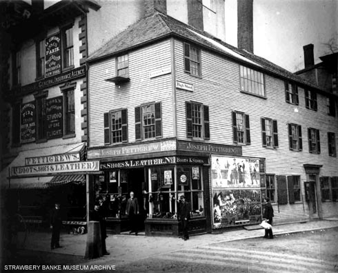 Shoestore and photos studio in Portsmouth, NH (c) Strawbery Banke Museum archive