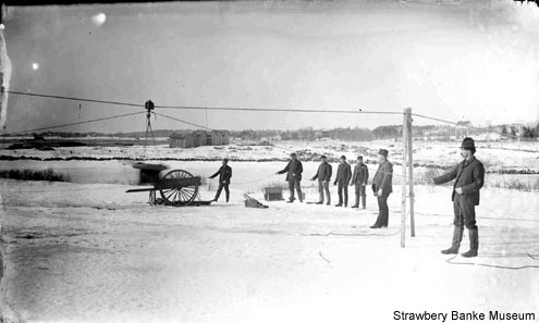 Firing Breeches Buoy on Rye Beach (c) Strawbery Banke Archive / SeacoastNH.com