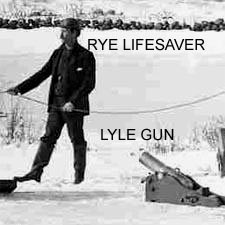 Lifesaver with Lyle Gun (c) Strawbery Banke Archive