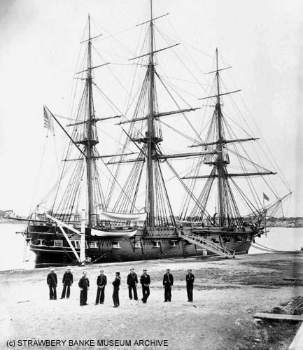 USS Constellation in Portsmouth NH (c) Strawbery Banke Archive