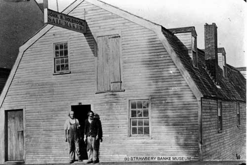 Sail Maker shop of John Holbrook roughly 1884 in Portsmouth, NH  (c) Strawbery Banke Archive