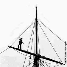 Man in rigging of Tall Ship/SeacoastNH.com