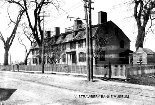 Home of shipbuilders Nathaniel Meserve, George Boyd and George Raynes in Portsmouth, NH (c) Strawbery Banke Museum archives