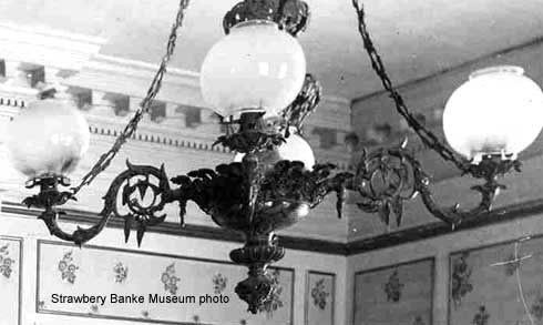 Detail gas chandelier, Portsmouth, NH/ Strawbery Banke Archive on SeacoastNH.com