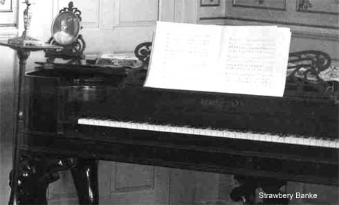 Chickering piano in Gov. Langdon house/ Strawbery Banke photo