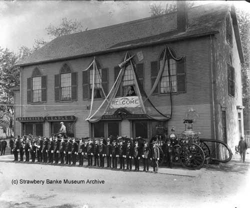 July muster 1901 Hanover St Fire Station in Portsmouth, NH (c) Strawbery Banke archive photo