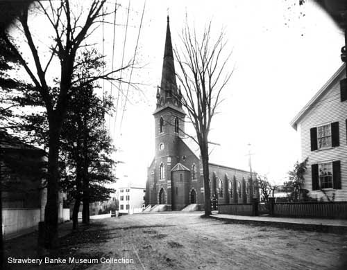 Immaculate Conception Catholic Church on Summer Street in Portsmouth, NH /Strawbery Banke Museum Collection on SeacoastNH.com
